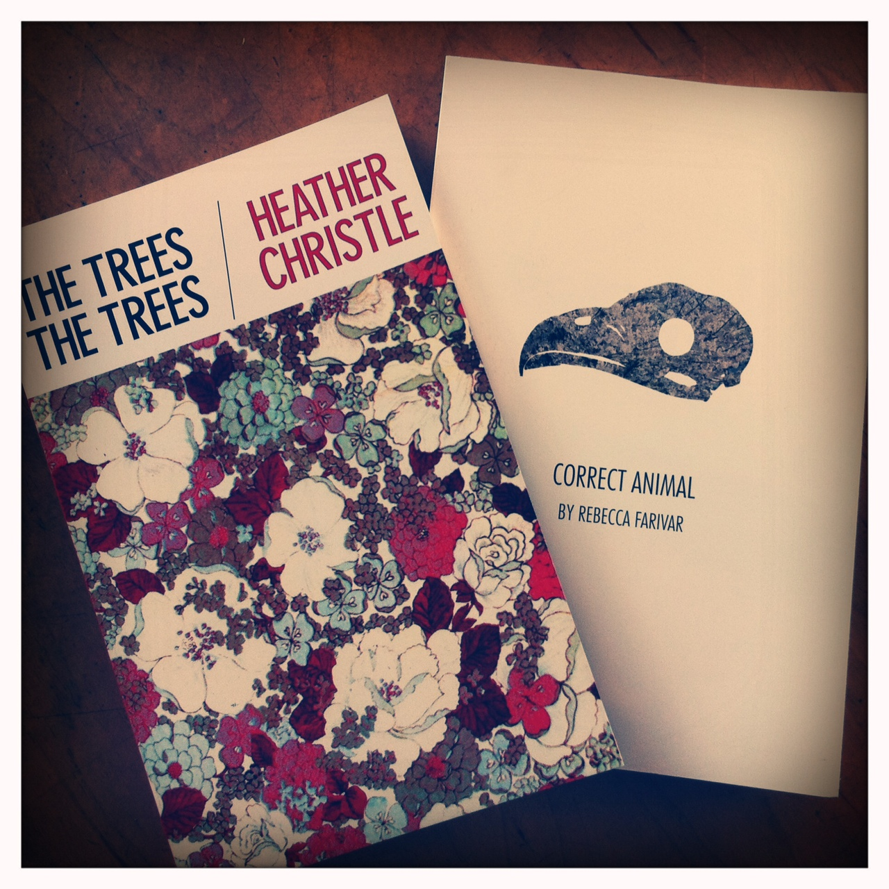 Rebecca Farivar's Correct Animal and Heather Christle's The Trees The Trees are now available for purchase.