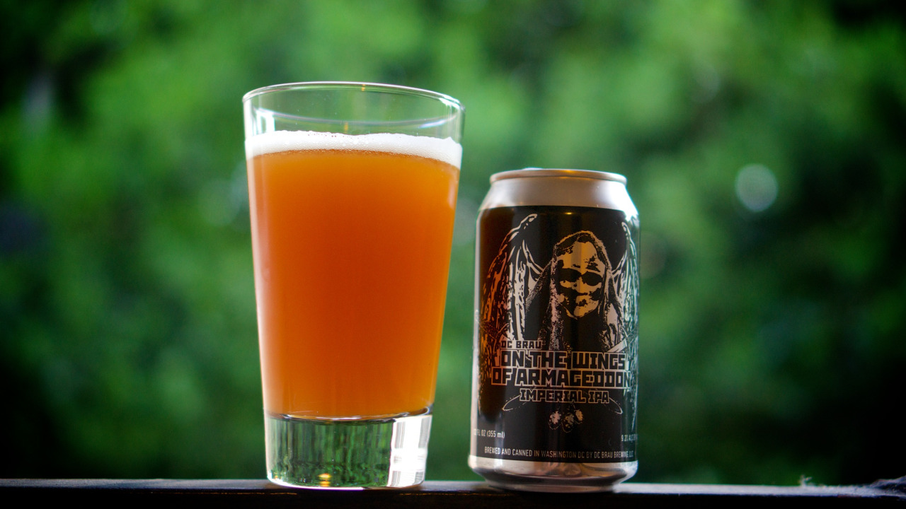 """Was gifted this killer can over the weekend. """"On The Wings Of Armageddon"""" by DC Brau Brewing.   Thanks to Connor from  Cellarmaker Brewing  for the beer!"""