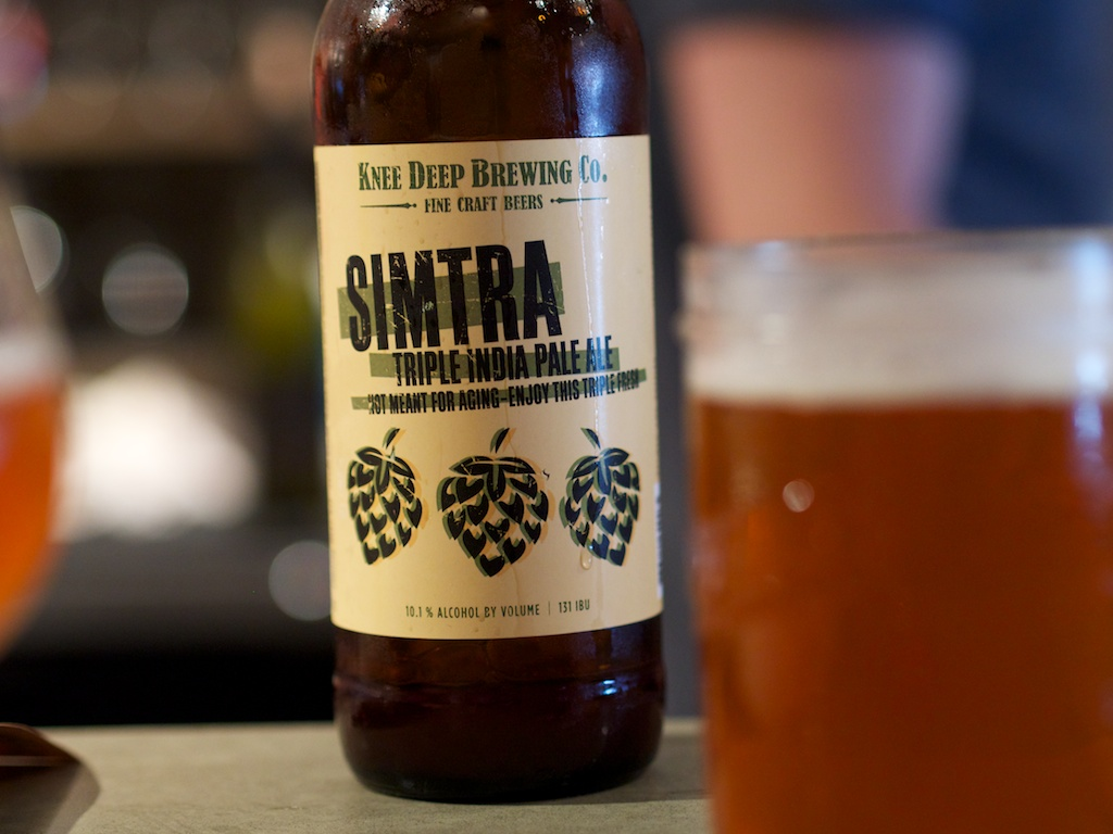 """Simtra."" I'm liking Knee Deep Brewing more and more with every taste."