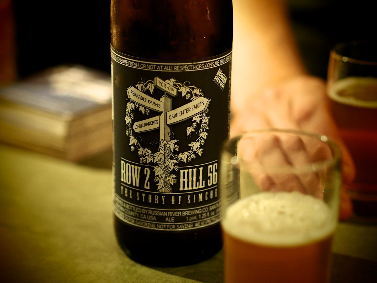 """""""Row 2 Hill 56"""" from Russian River Brewing Company.Thanks to Adam at  Grape & Grain  for popping this one for us at the bar."""