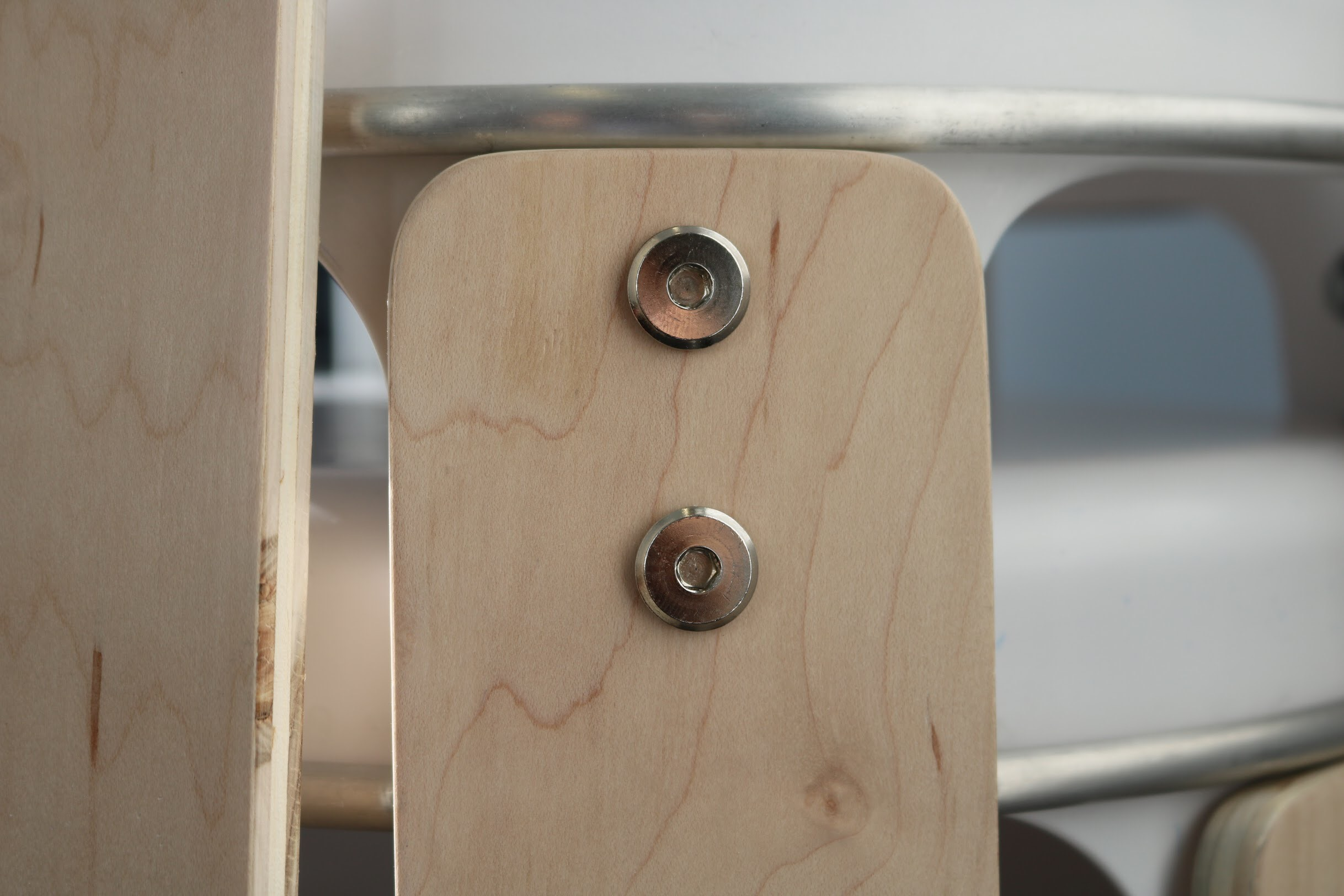 Simple, ,honest, & nothing to hide. - Exposed bolts, distinct materials, and an attractive aesthetic, the Core Stool is both complex in it's design, and yet it's so easy to see how it all comes together.
