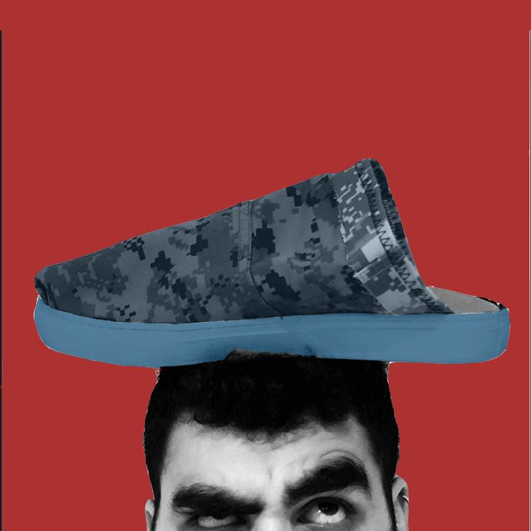 魂 - Tamashi - Japanese inspired slipper made from Army Surplus gear