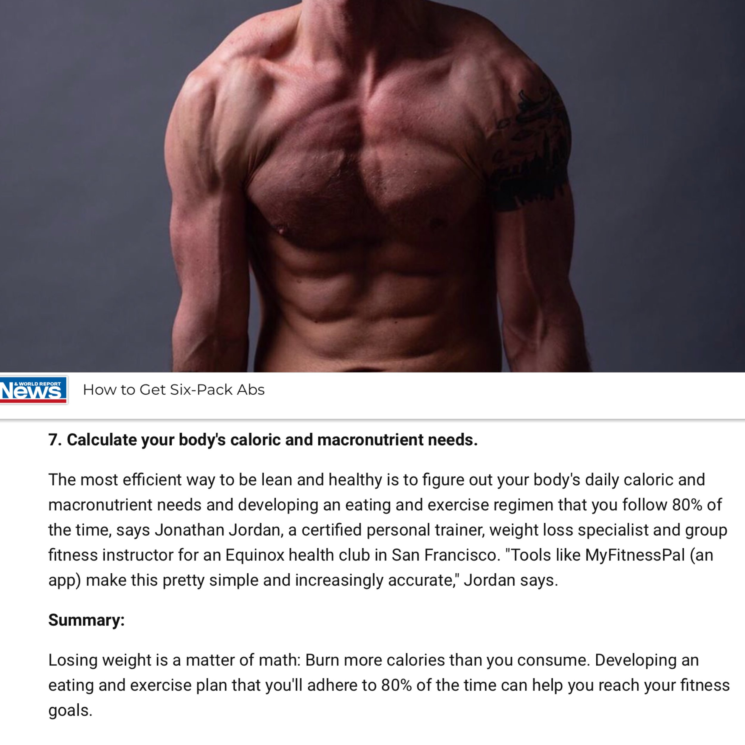 Simple diet plan for 6 pack abs