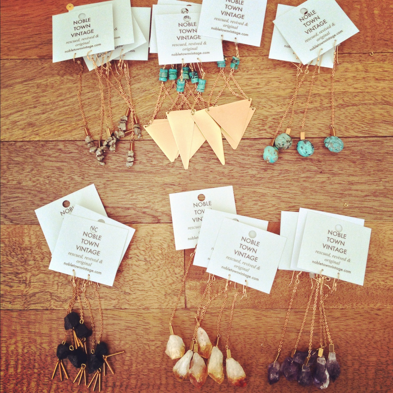 New earring styles on their way to Needles&Pens in SF.