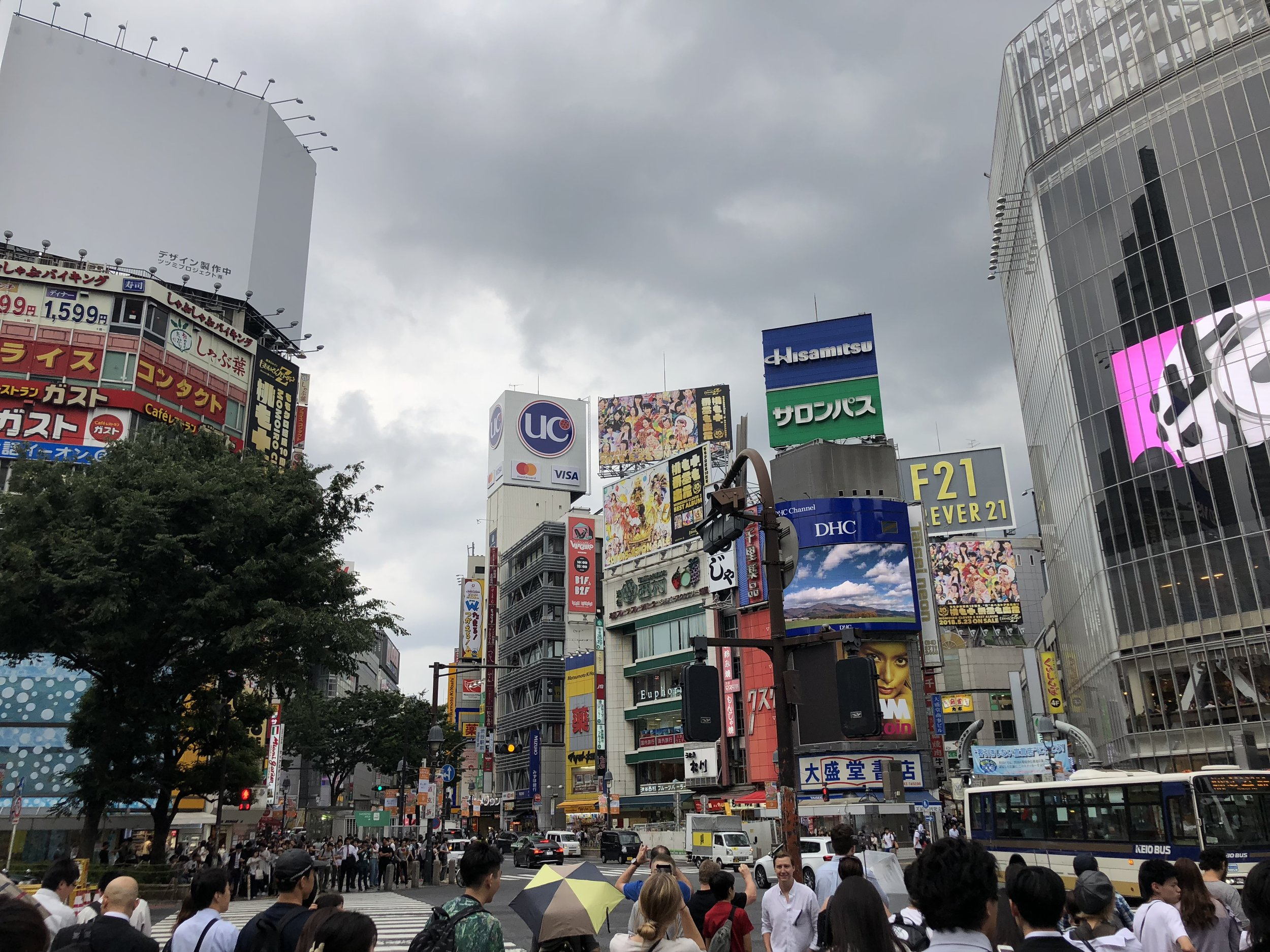 Like I said...gloating. This was on my first day in Tokyo at Shibuya crossing, the busiest intersection in the world.