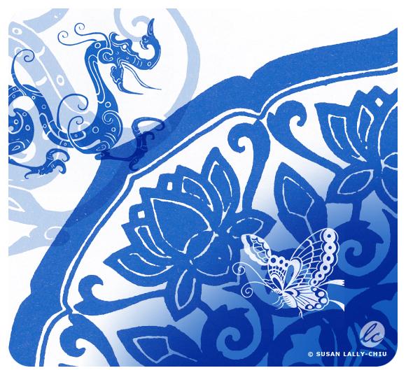 BlueCollage_DragonLotus_LallyChiu_HappyTreePress.jpg
