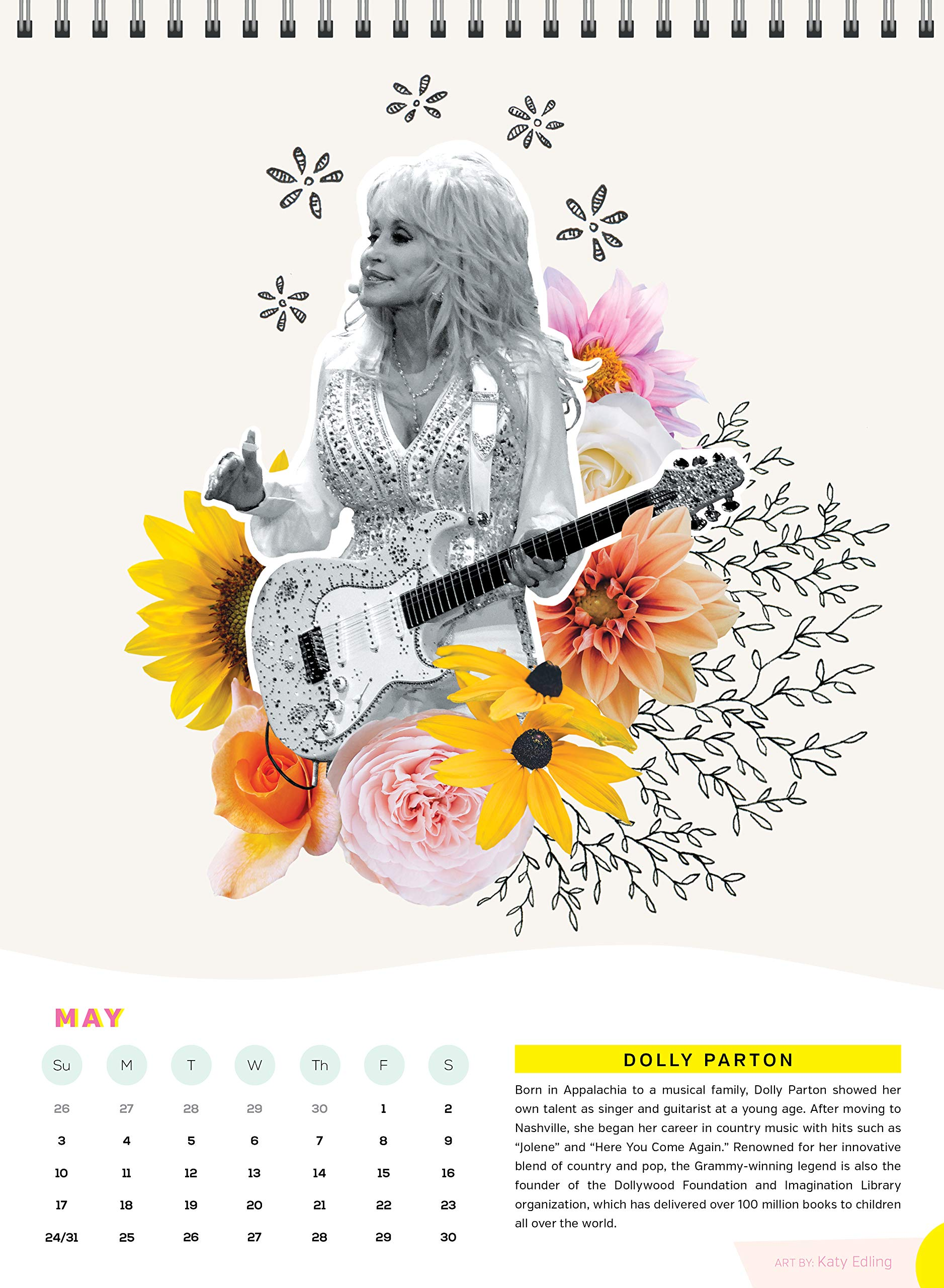 Dolly Parton Fiercely Female 2020 Calendar