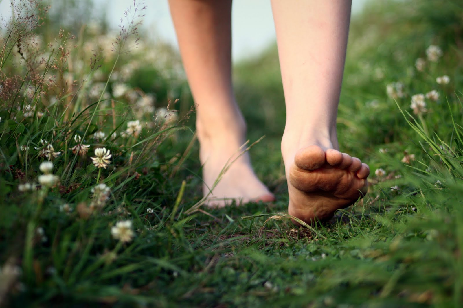 Walking barefoot outside in the grass or dirt is also a great way to ground.