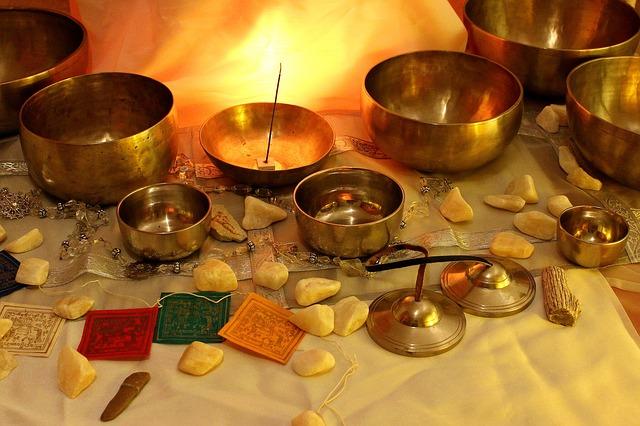 Tibetan singing bowls.