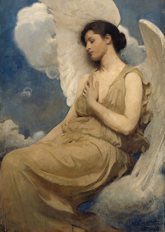 Abbott Handerson Thayer,  Winged Figure , 1889, The Art Institute, Chicago