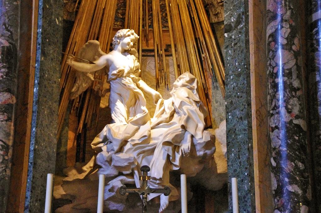 Gian Lorenzo Bernini,  The Ecstasy of St. Teresa of Avila , 1652,Santa Maria della Vittoria, Rome