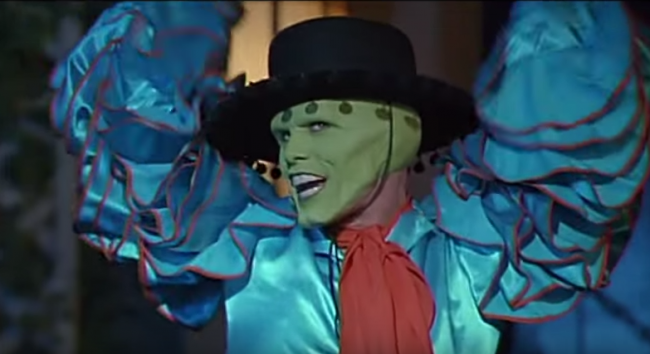 Ironically, the mask made him  more  authentic!