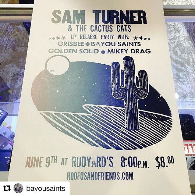 See you all tonight for this show! @samandthecats has put together a great lineup, and we're pumped to celebrate their new album release! Let's party!