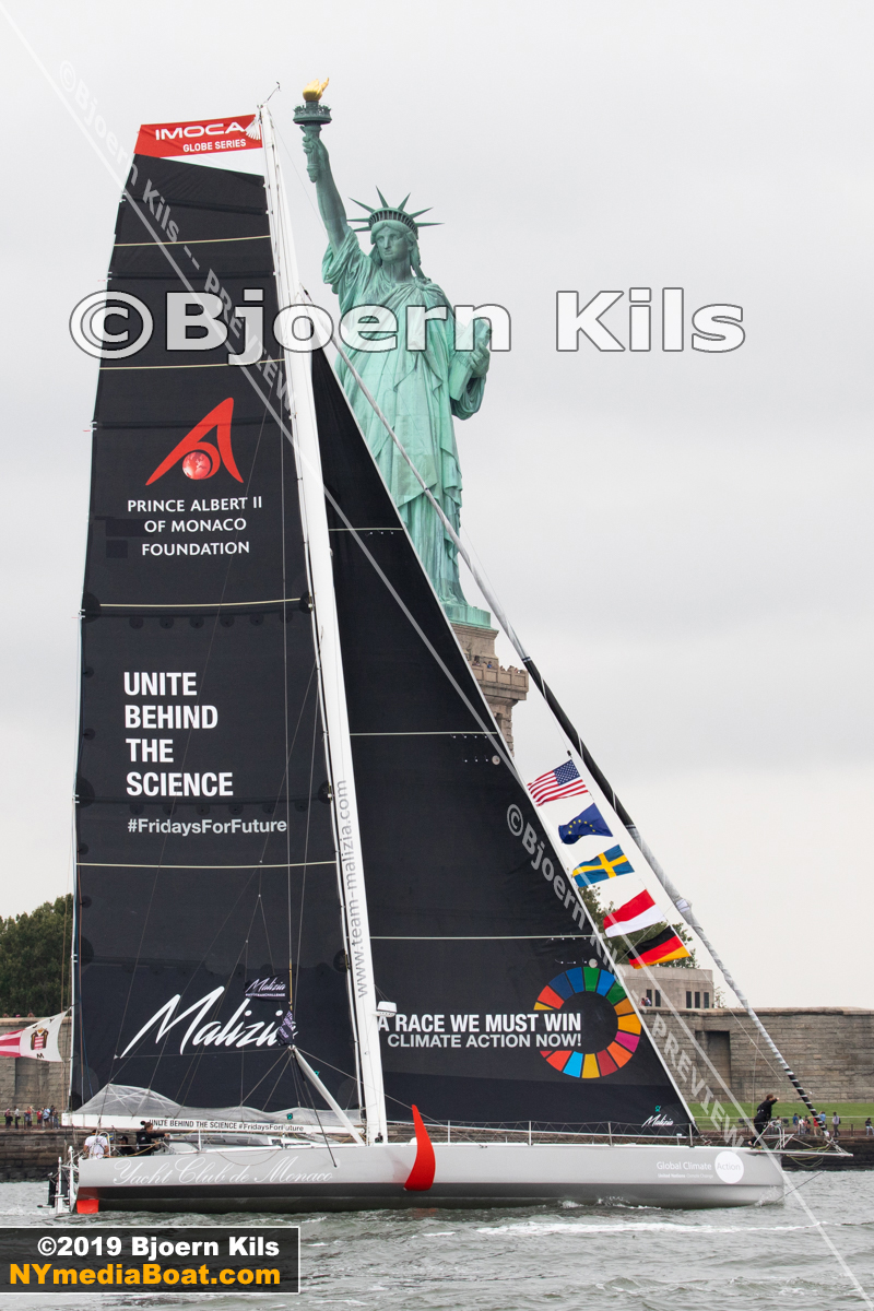 'Unite Behind The Science' and 'A Race We Must Win' are clear messages in Malizia's sails