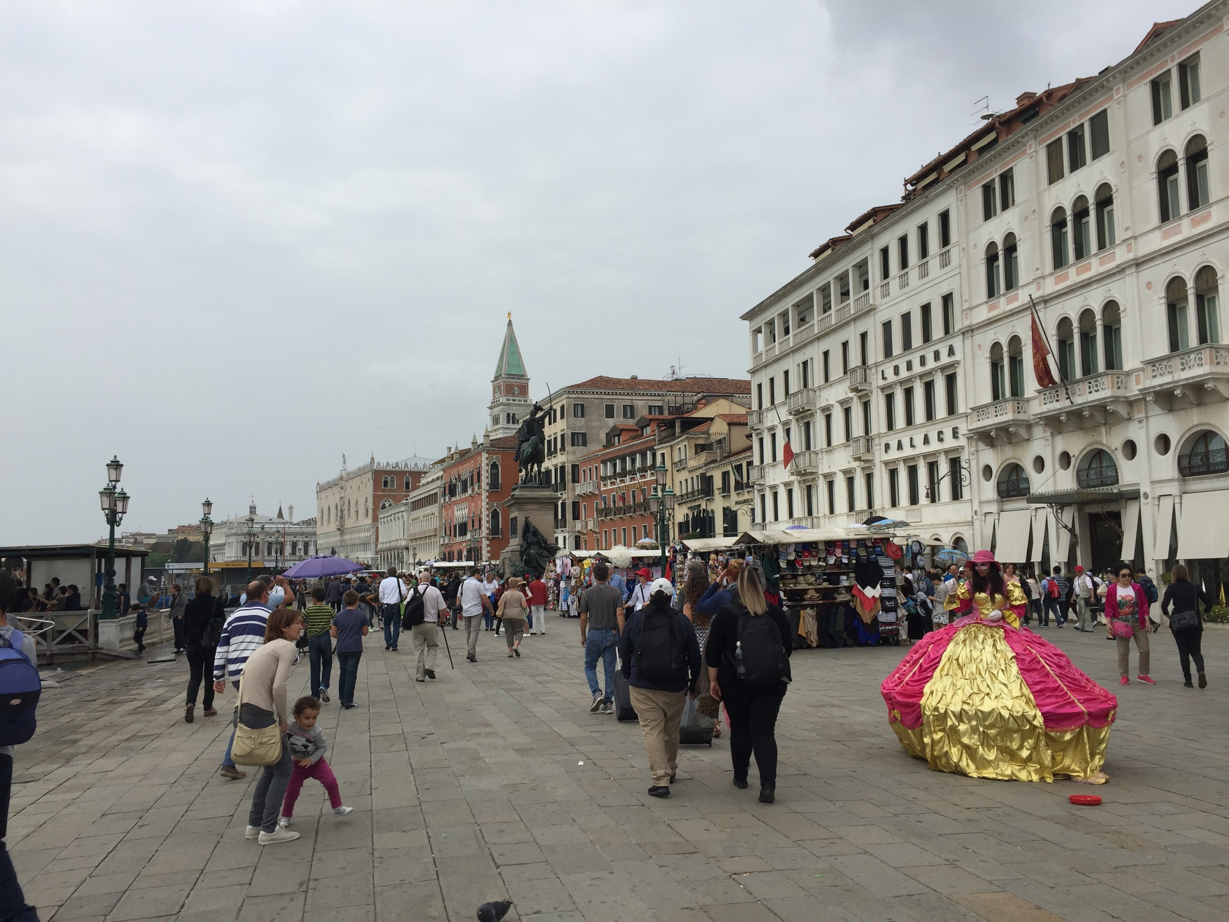 The view after hopping off of the water taxi at San Marco
