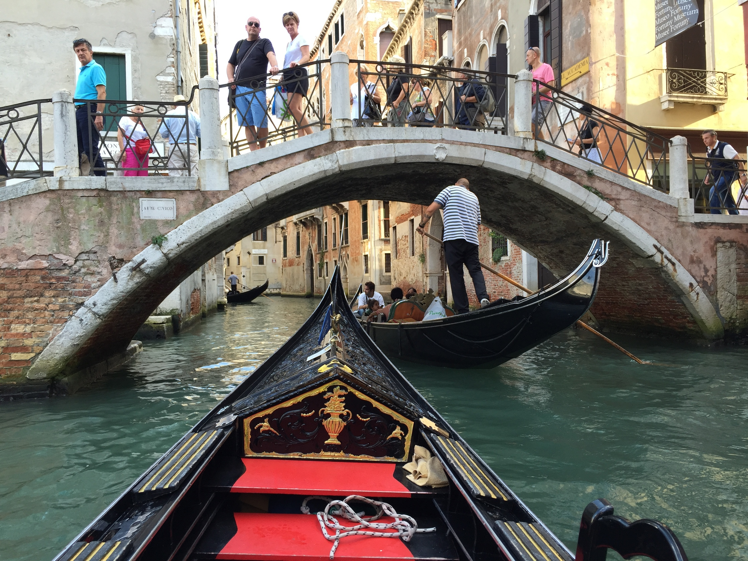 My view from the gondola as we turned from the Grand Canal