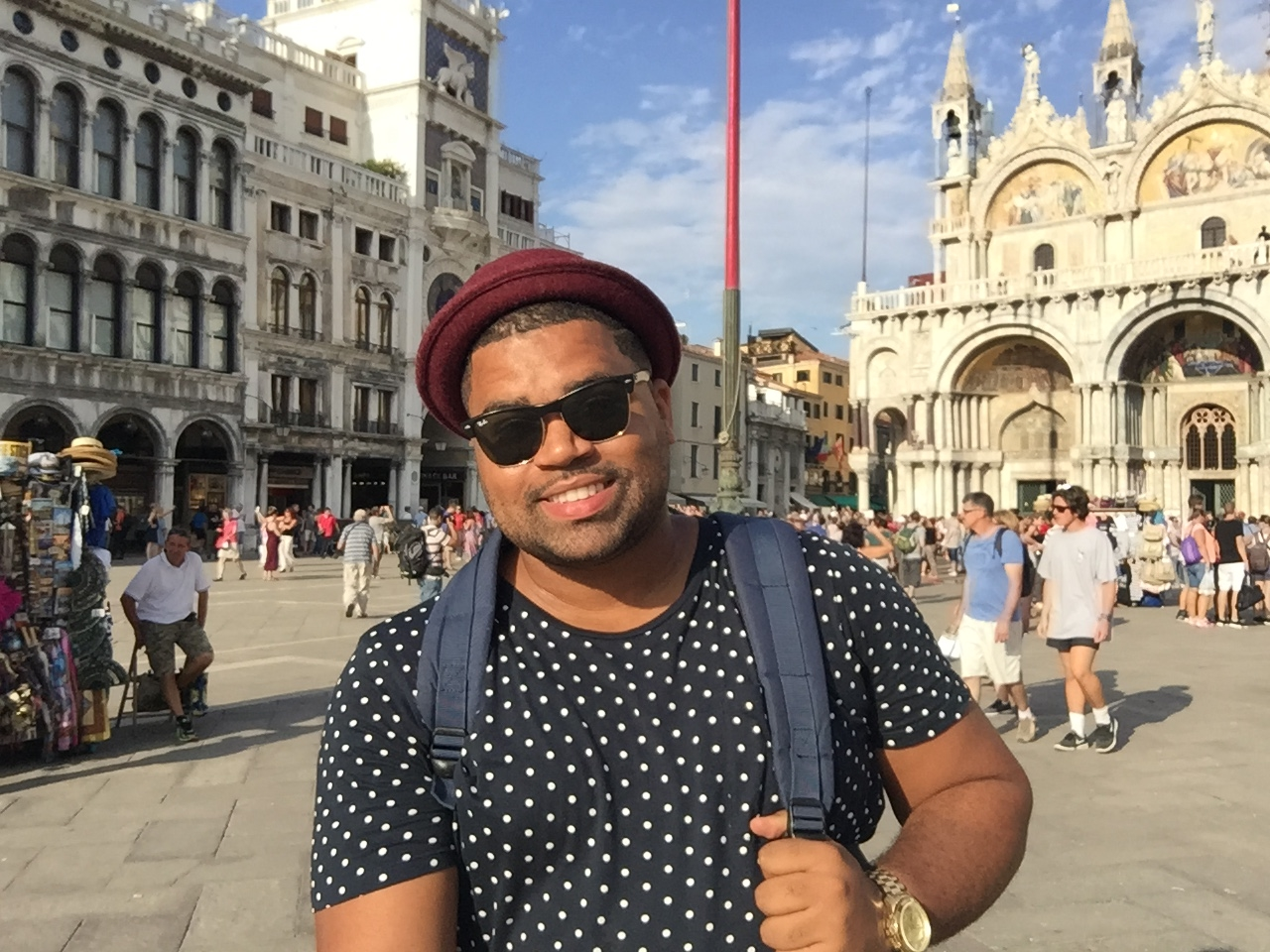Snapped a photo in St. Mark's Square in front of St. Mark's Basilica