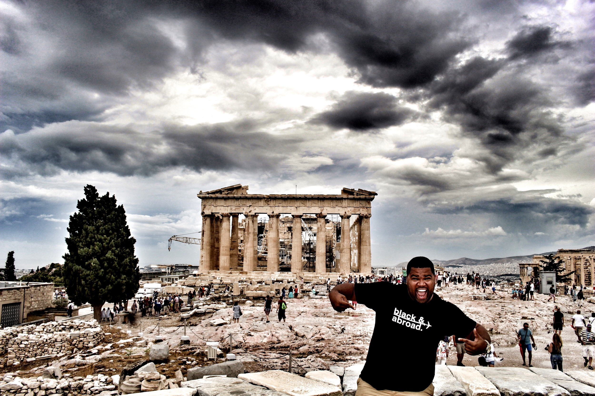 Black & Abroad at the Acropolis in Athens, Greece