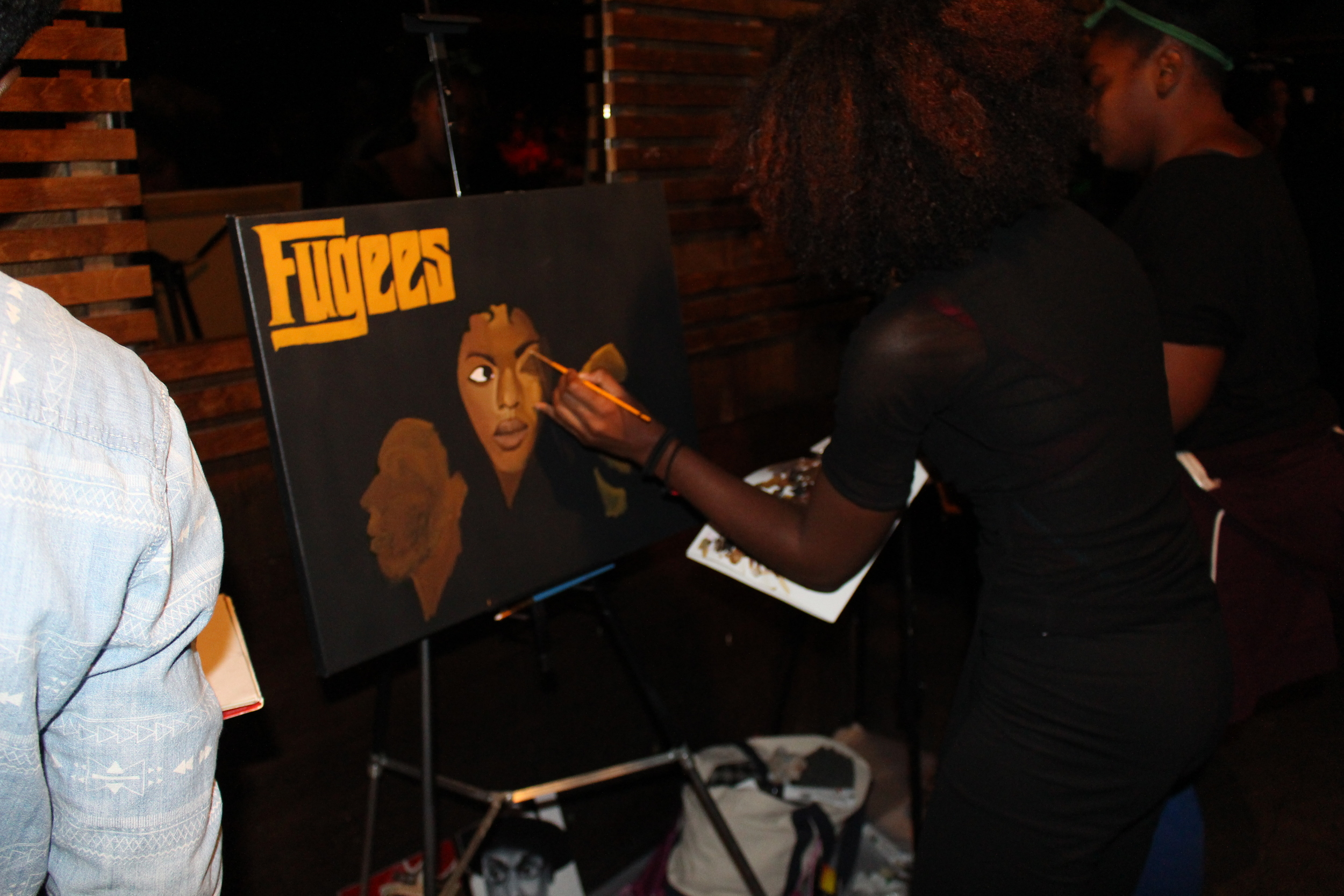 Ashleigh Alexandria was a featured artist at Collage NYC's Art Tribute to 90s Hip Hop Album Covers