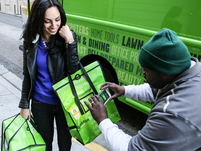 Get your groceries delivered right to your door with services such as Amazon Fresh