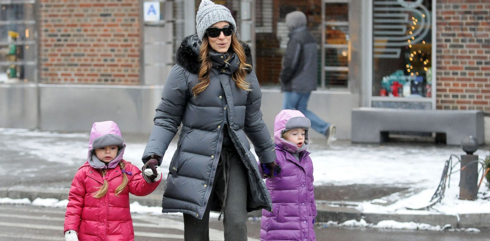 Sarah Jessica Parker is often seen walking through the streets of New York City.