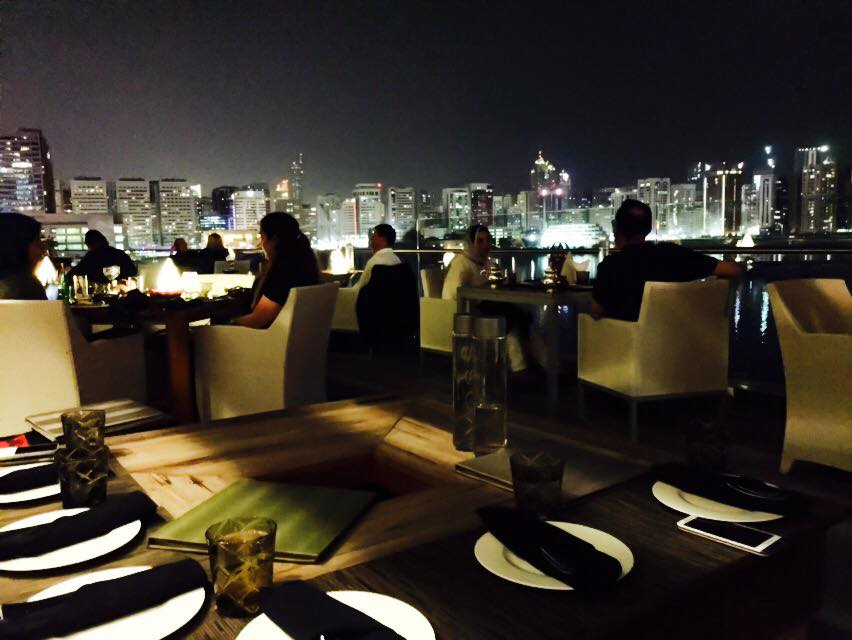 Dinner, drinks and shisha at the Rosewood Hotel.