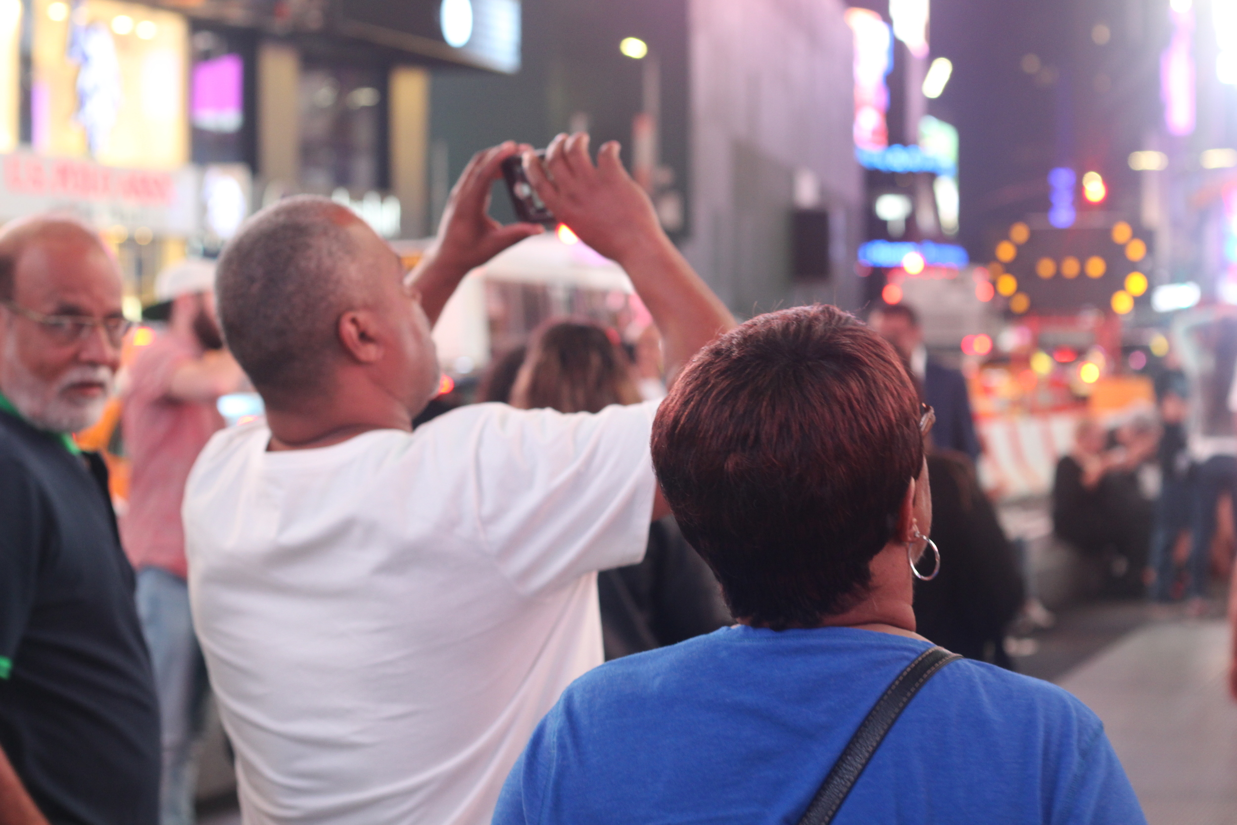 My parents came to New York City to visit me, recently, and insisted on going to Times Square.
