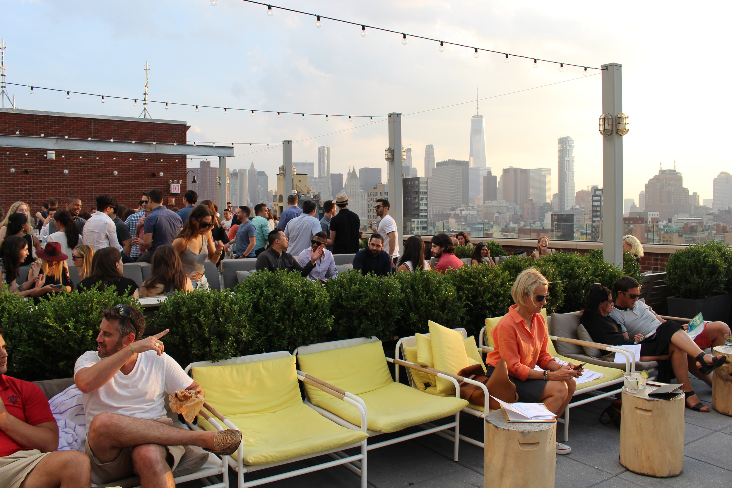 The rooftop of Mr. Purple, in New York City.