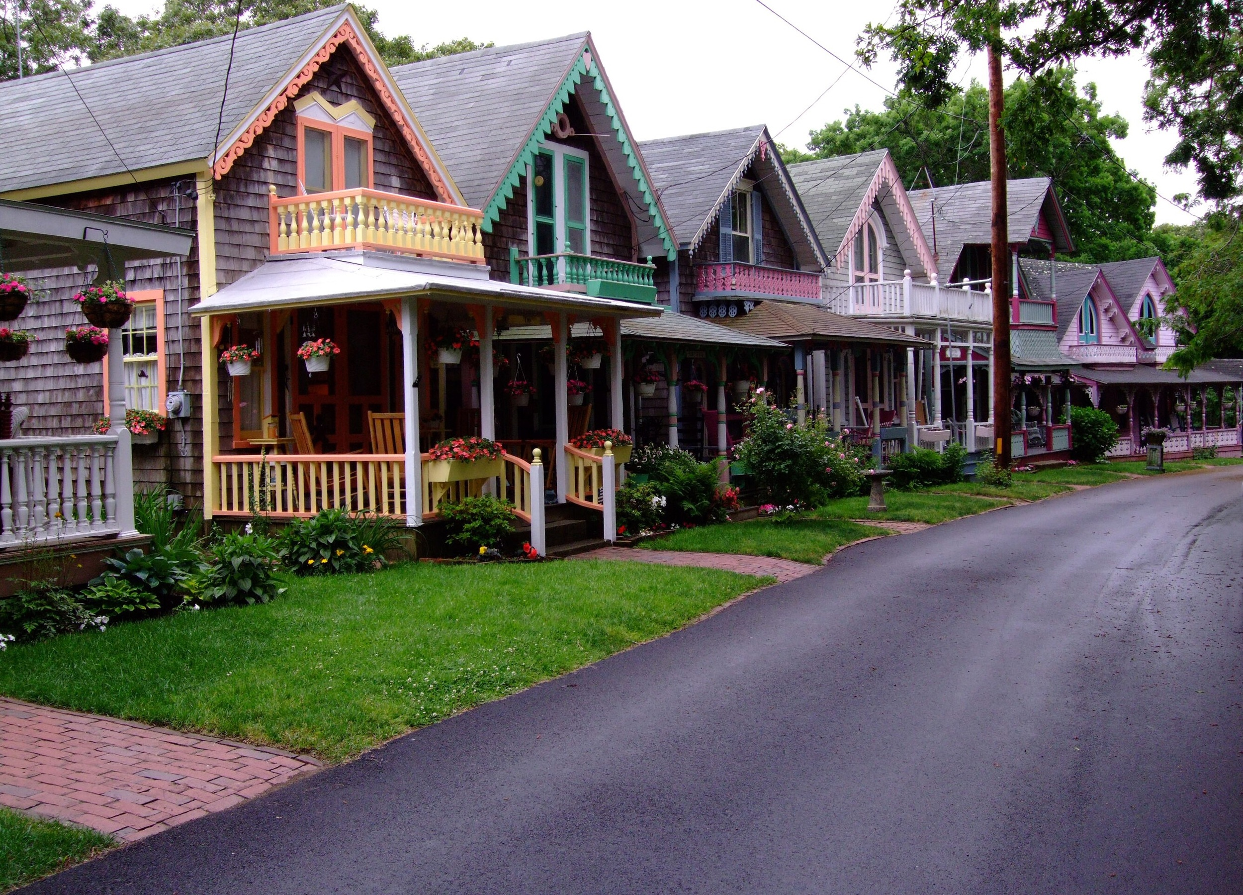 """Some of the beautiful homes at Martha's Vineyard, known as """"Gingerbread Houses"""""""