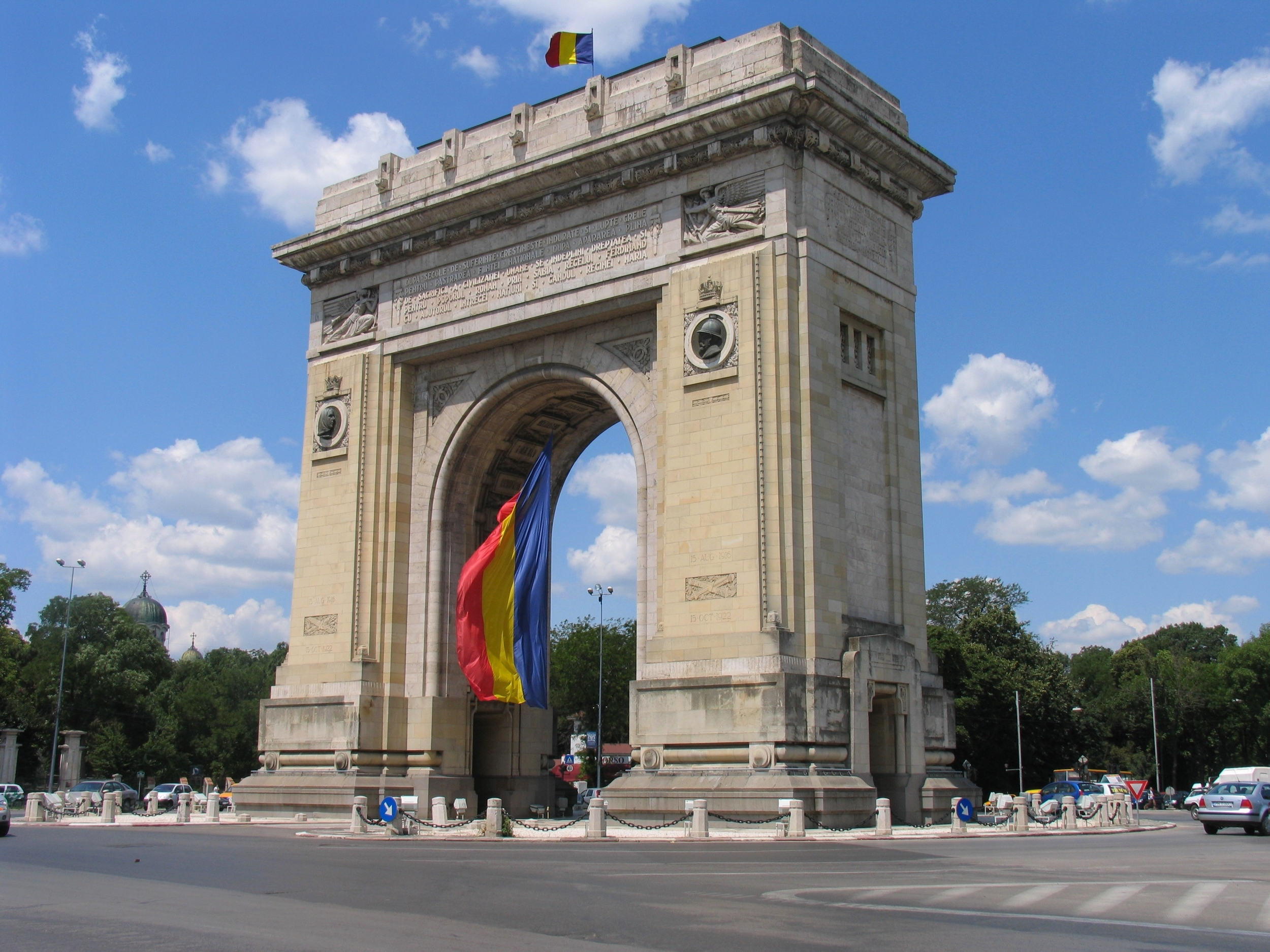 The Triumph Arch in Bucharest, Romania. We passed this on our way to the airport from our hotel.