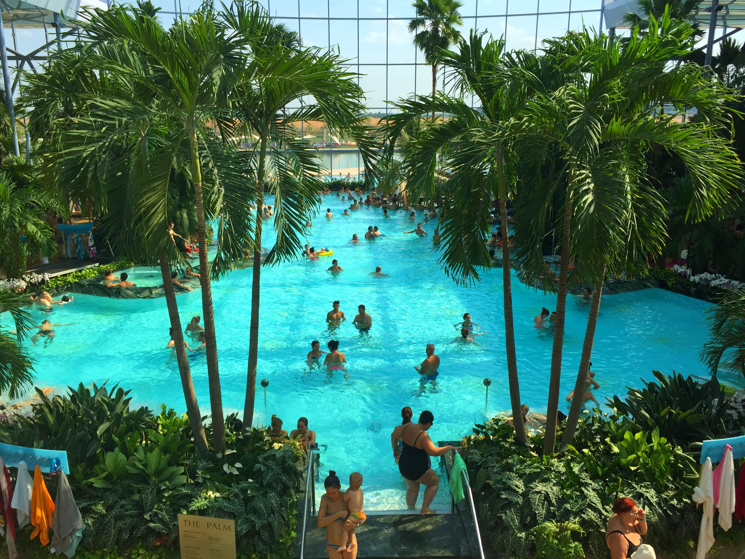 The Therme Bucaresti, from the 2nd floor of the Palm
