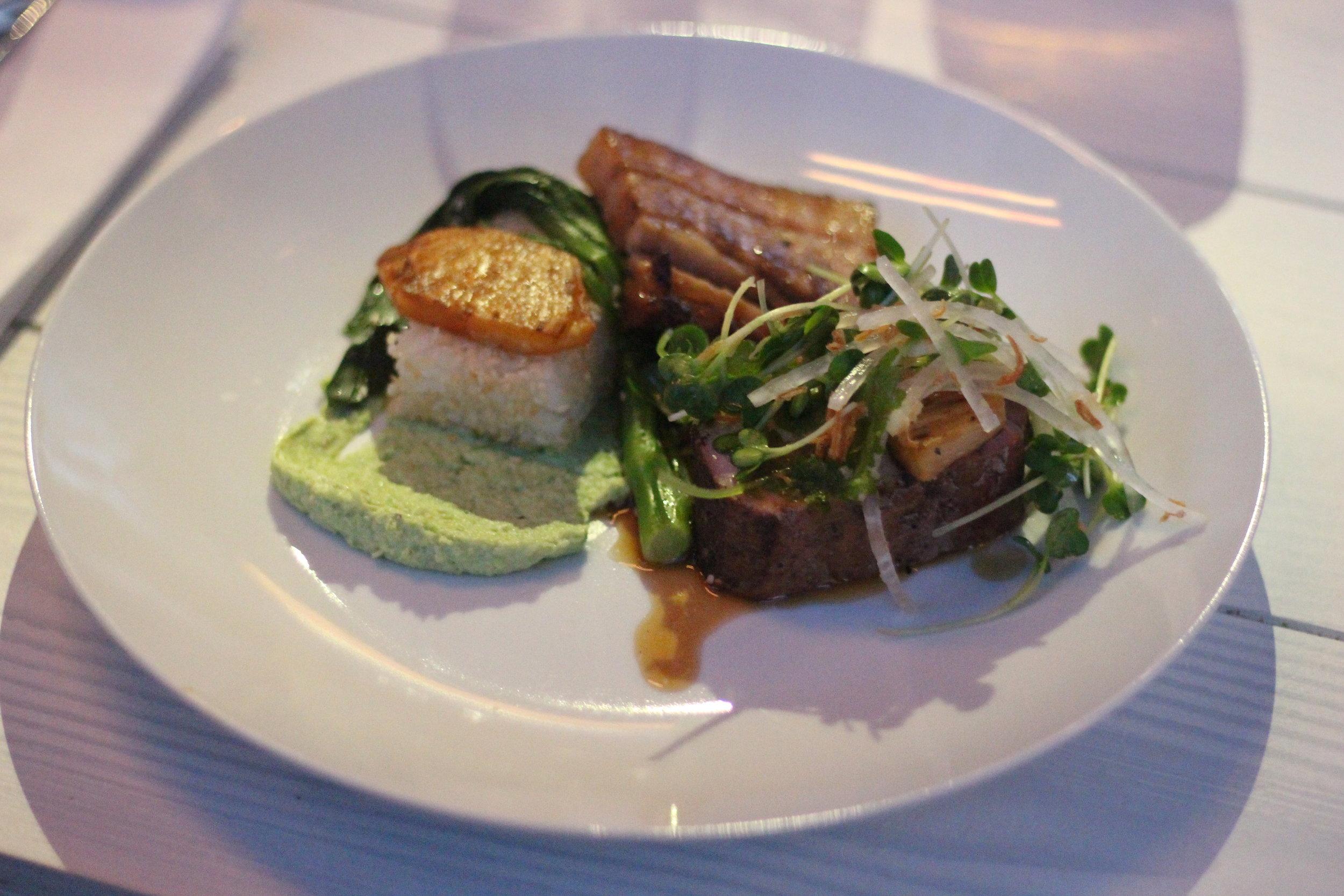 Dinner was a unique creation of the chefs,Bompas &Parr