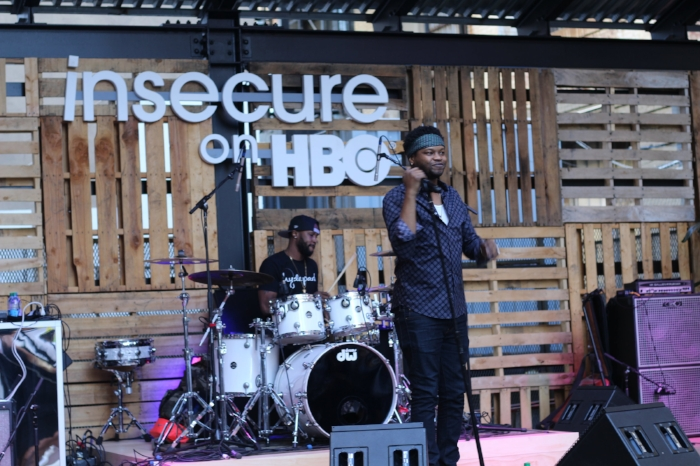 BJ the Chicago Kid was one of the guest artists at the block party.