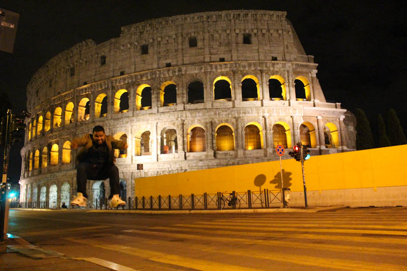 Outside of the famous Colosseum Roma