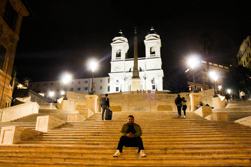 The Spanish Steps in Roma, in the evenings