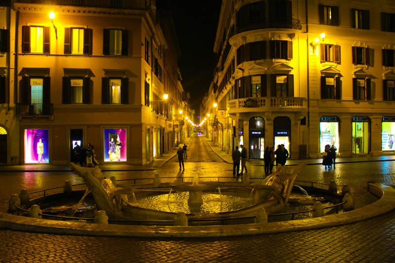View of the square from the Spanish Steps