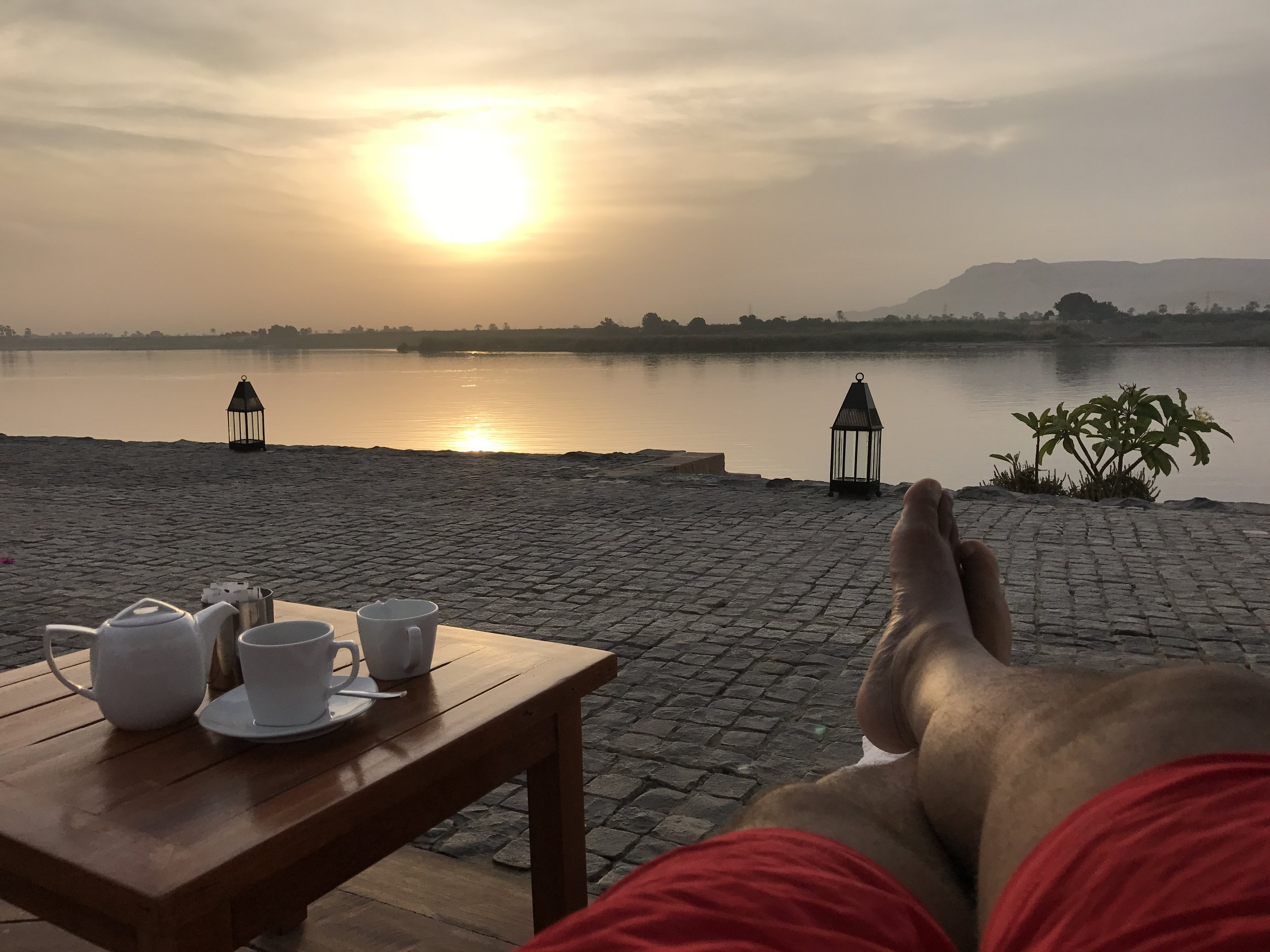 I spent the majority of my time in Luxor relaxing at the hotel, poolside, watching the sun set over the Nile River
