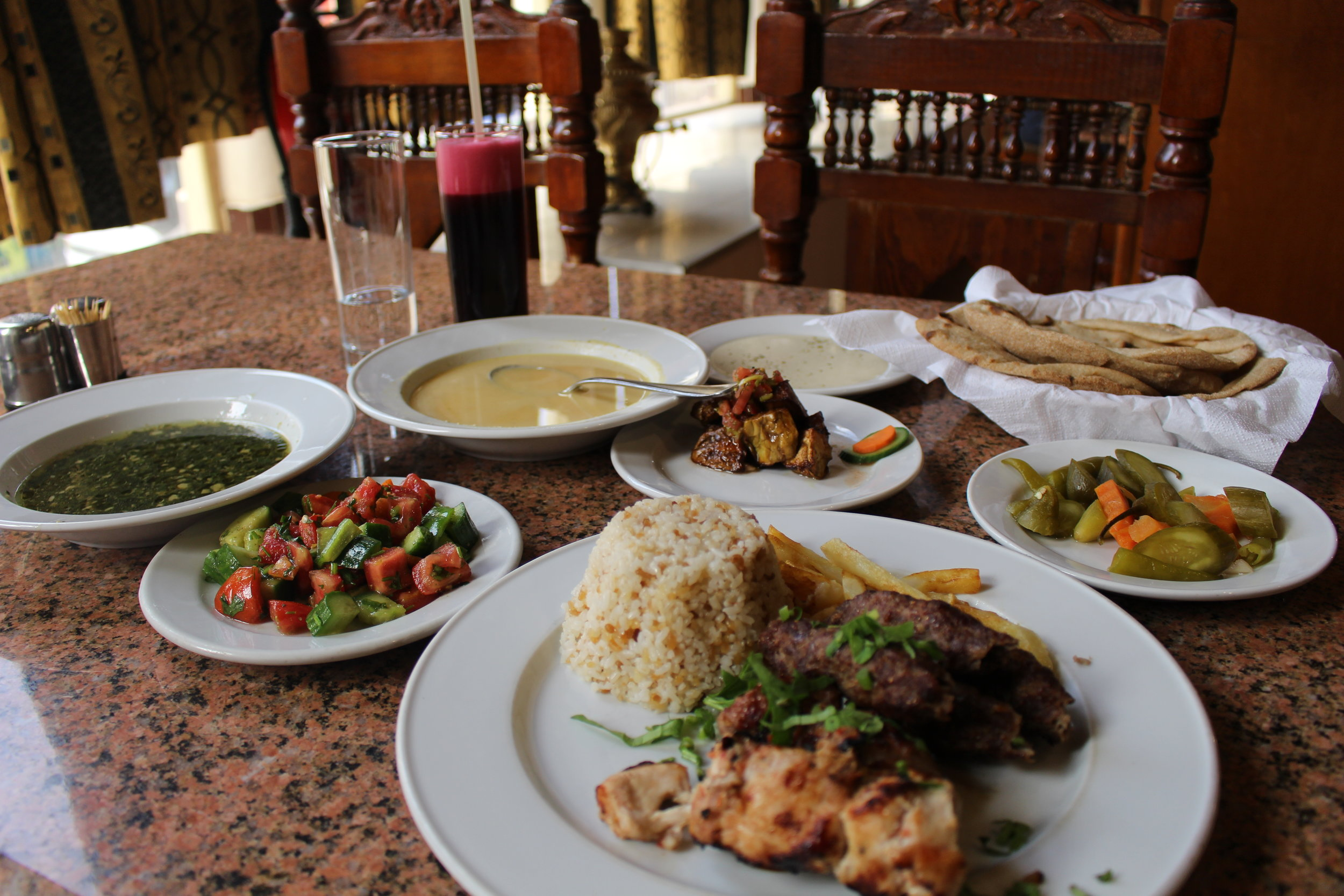 All of this cost me about $8 USD from El Hussien, which is walking distance from the Luxor Hilton Resort & Spa.