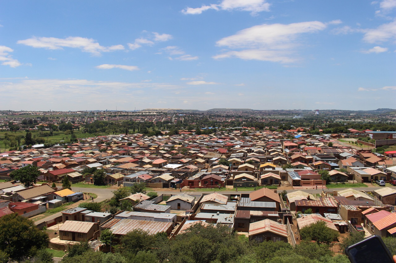 You can see almost all of Soweto from the top of the Oppenhimer Tower.