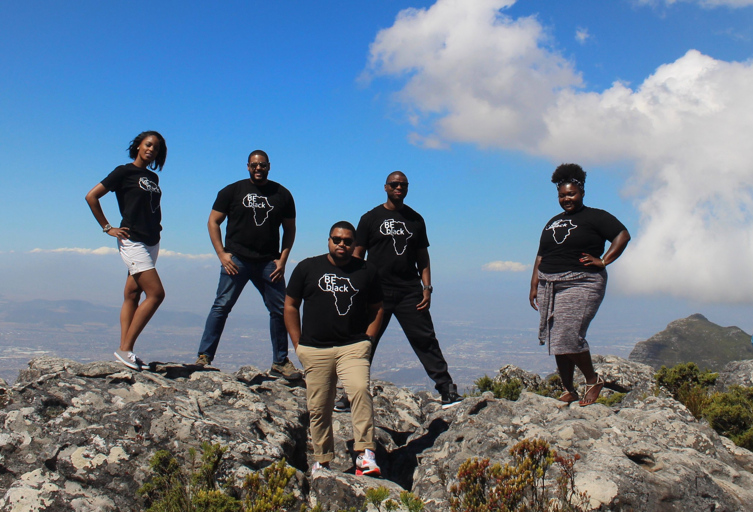 On top of Table Mountain in Cape Town.