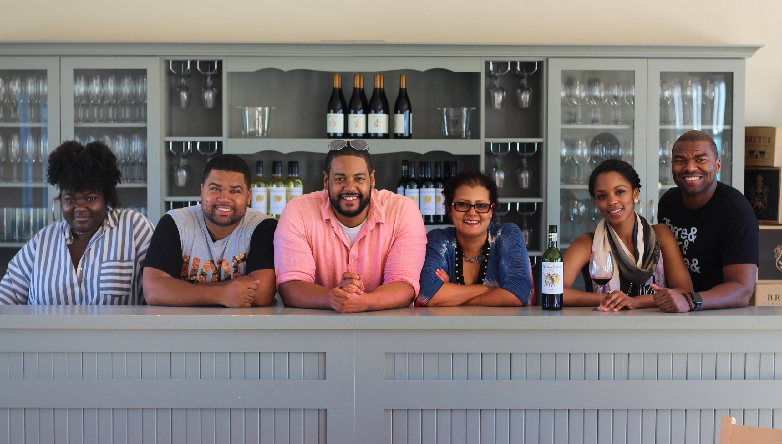 Before leaving Seven Sisters Wine, we made sure to get behind the bar to snap a shot with Vivian, one of the owners.