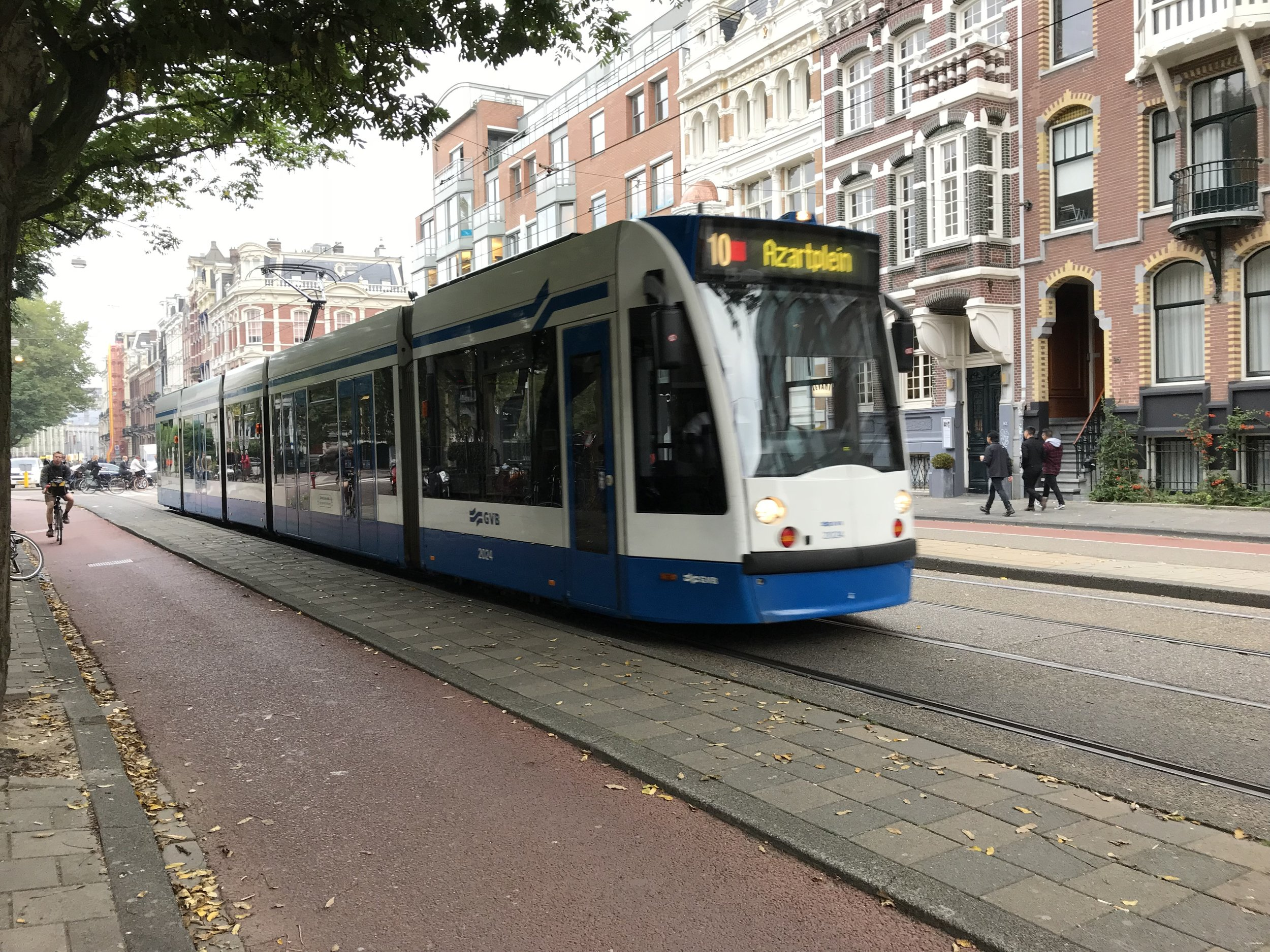 The trams in Amsterdam are convenient, easy and cheap. Pro-Tip: Buy an unlimited 24-hour card for about 7.50€