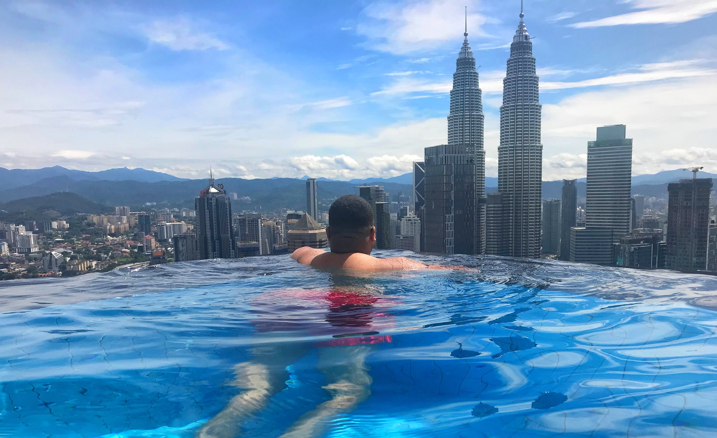 The rooftop infinity pools in Kuala Lumpur provide the best views of the city.