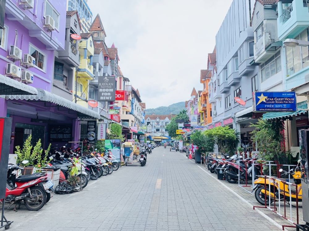 One of the side streets in Patong, Phuket.