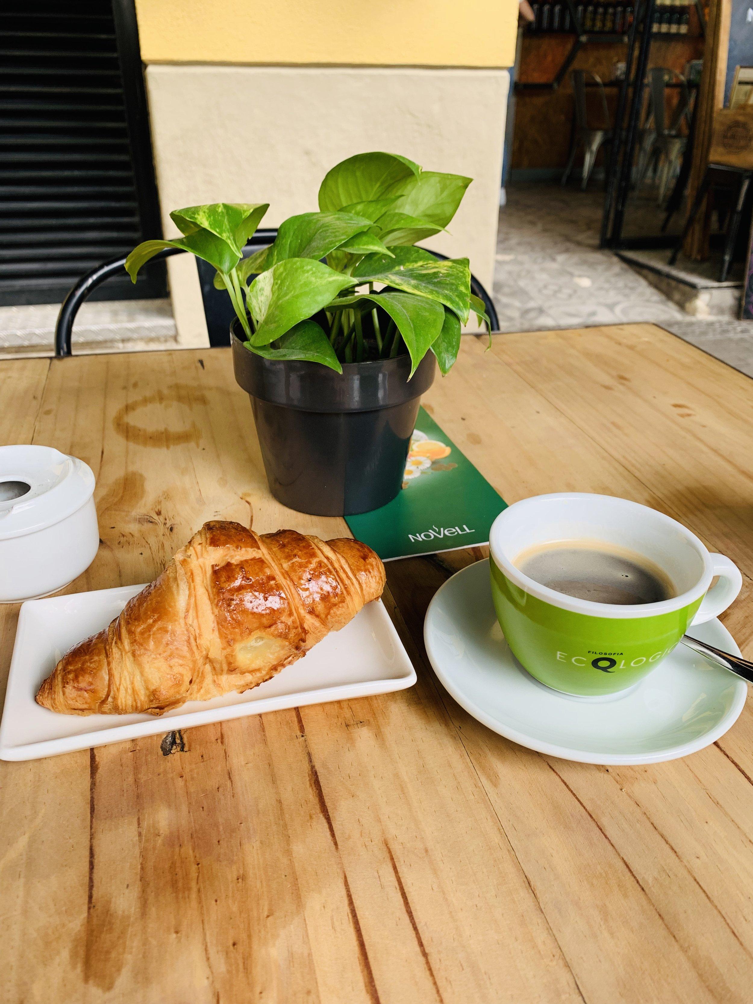 Simple breakfast in Barcelona