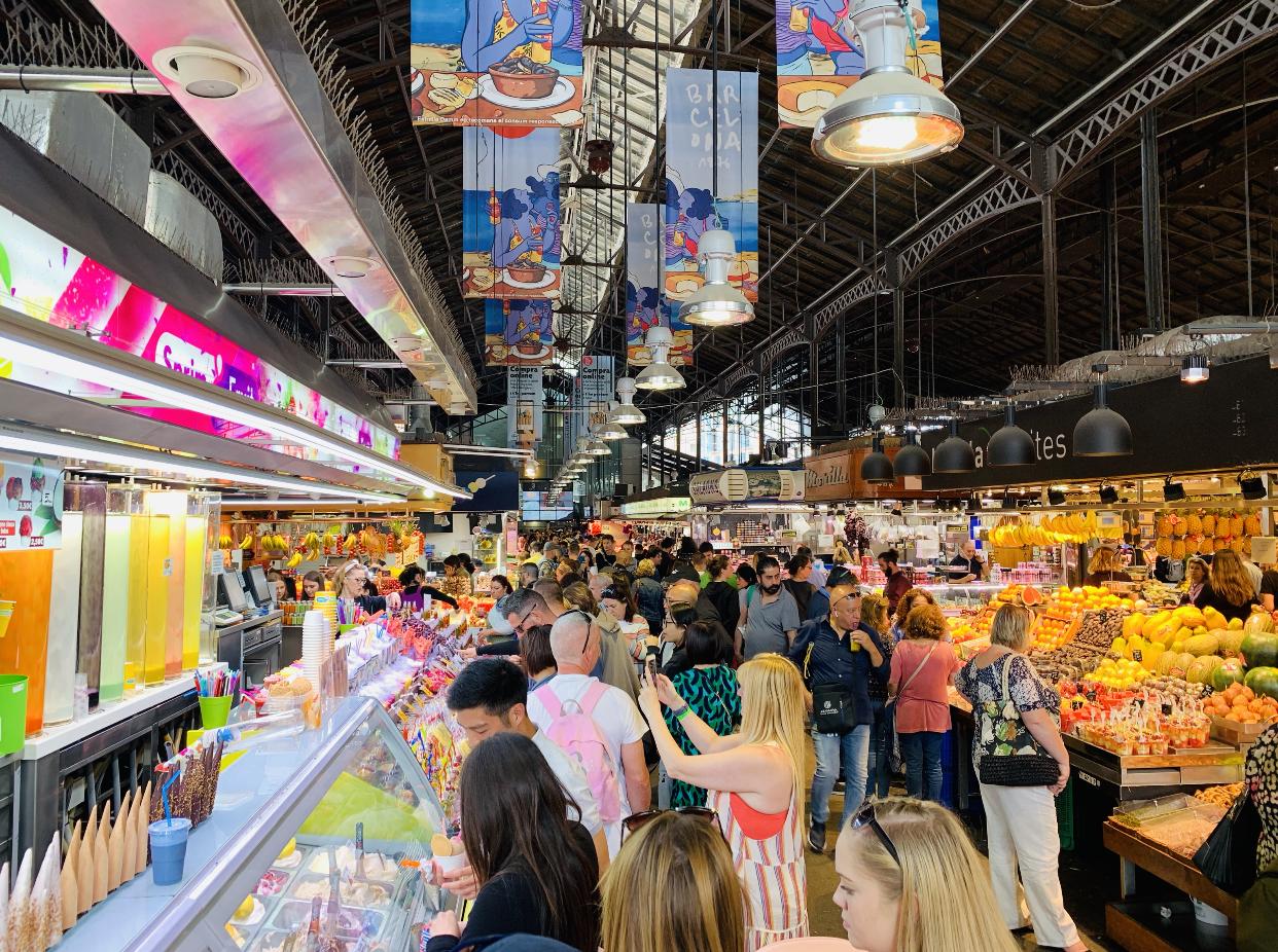 La Boqueria Market in Barcelona.