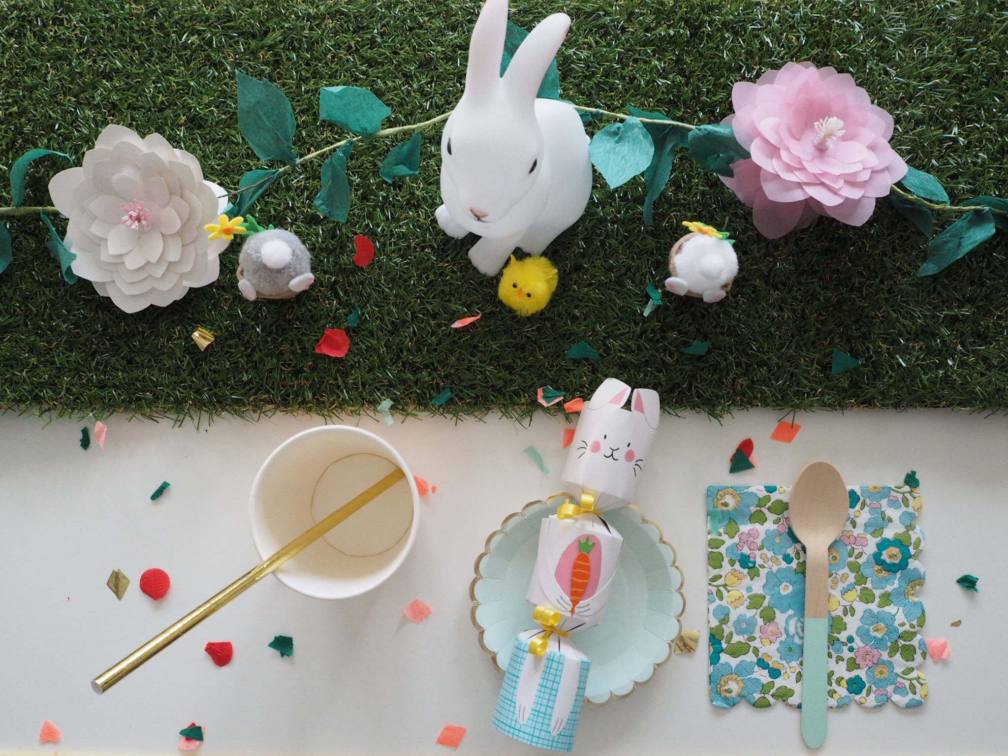easter decorations, easter party styling