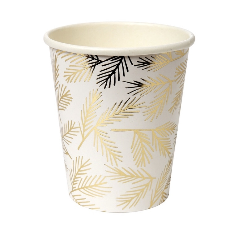Gold leaf party cups