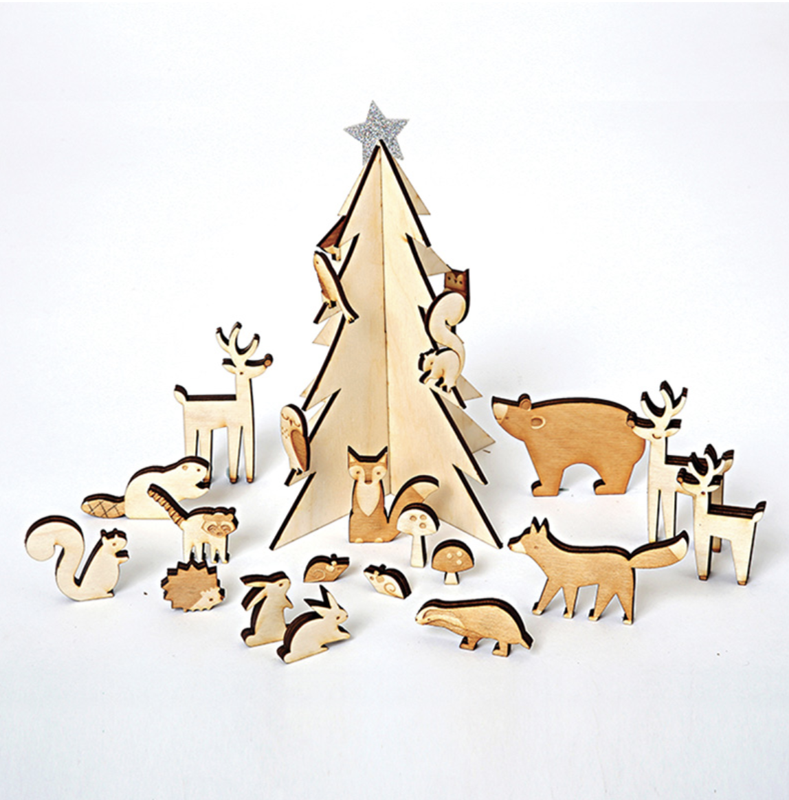 woodland animal advent calendar