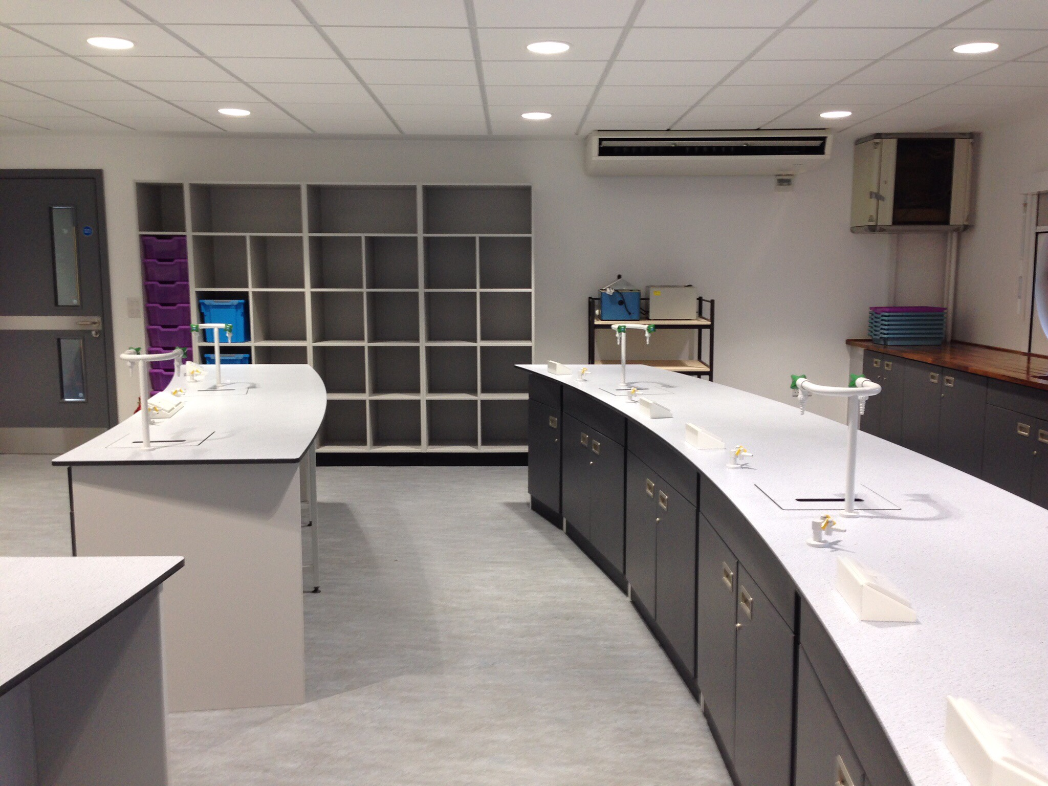 AJT Laboratory furniture Design Trespa Worktops School refurb